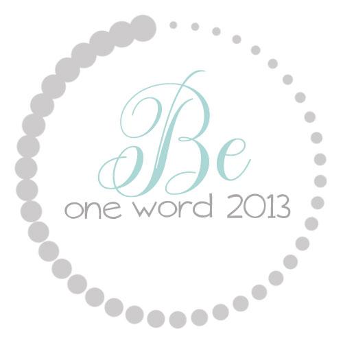OneWord2013_Be